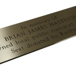 Personalised Bench Plaques