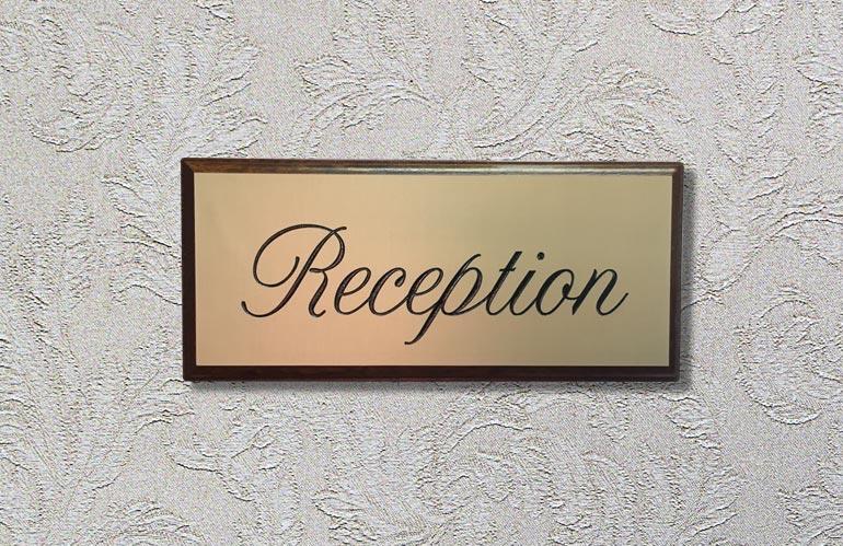 reception plaque