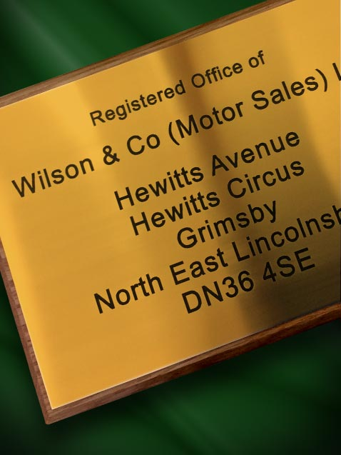 Gold Engraved Office Plaque
