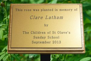 Staked Memorial Plaque