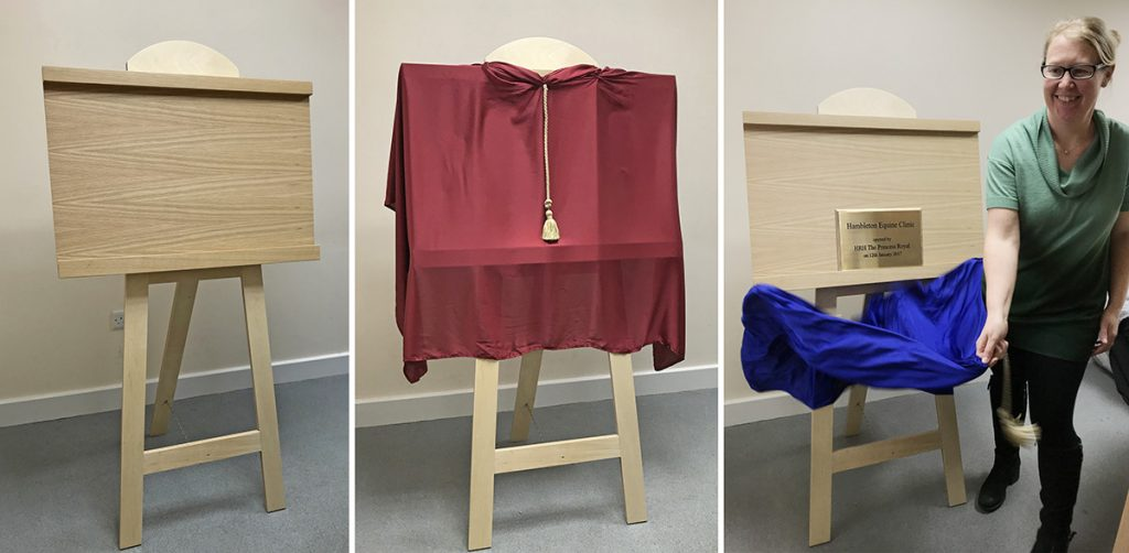 unveiling easel