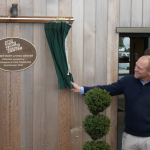 Mike Tindall Get Busy Living Centre Unveiling Curtain