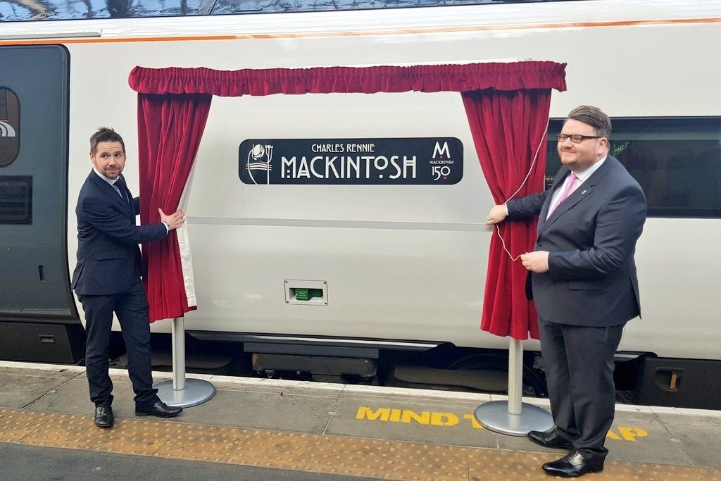 Virgin Trains Rennie Mackintosh Unveiling Curtain