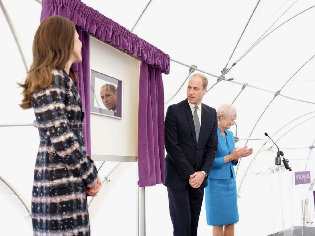 Kate Middleton and Prince William Unveiling Curtain