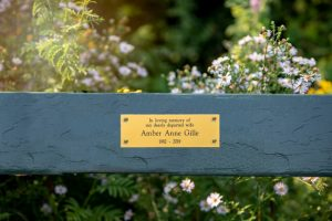 engraved memorial bench plaque